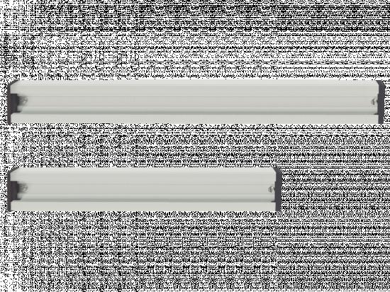 Aluminiowa szyna mocująca do wieszaków i haczyków 50 cm