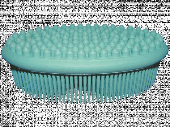 Szczotka kauczukowa do kąpieli i masażu ciała (zielona)