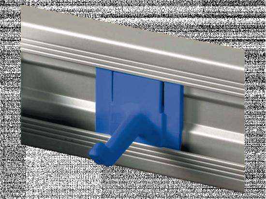 Haczyk do szyny mocującej niebieski