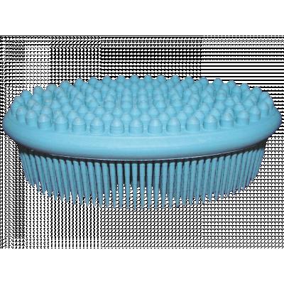 Szczotka kauczukowa do kąpieli i masażu ciała (niebieska)