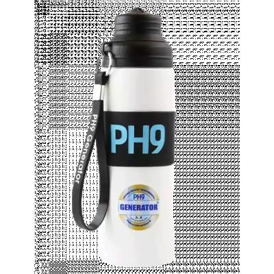 Butelka alkaliczna pH9, czarna