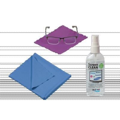 Zestaw do czyszczenia okularów i ekranów