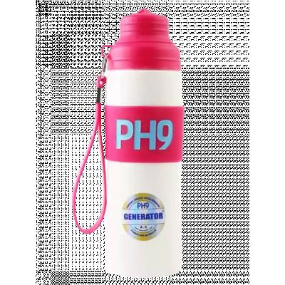 Butelka alkaliczna pH9 różowa